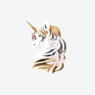 Unicorn Brooch in Pastel