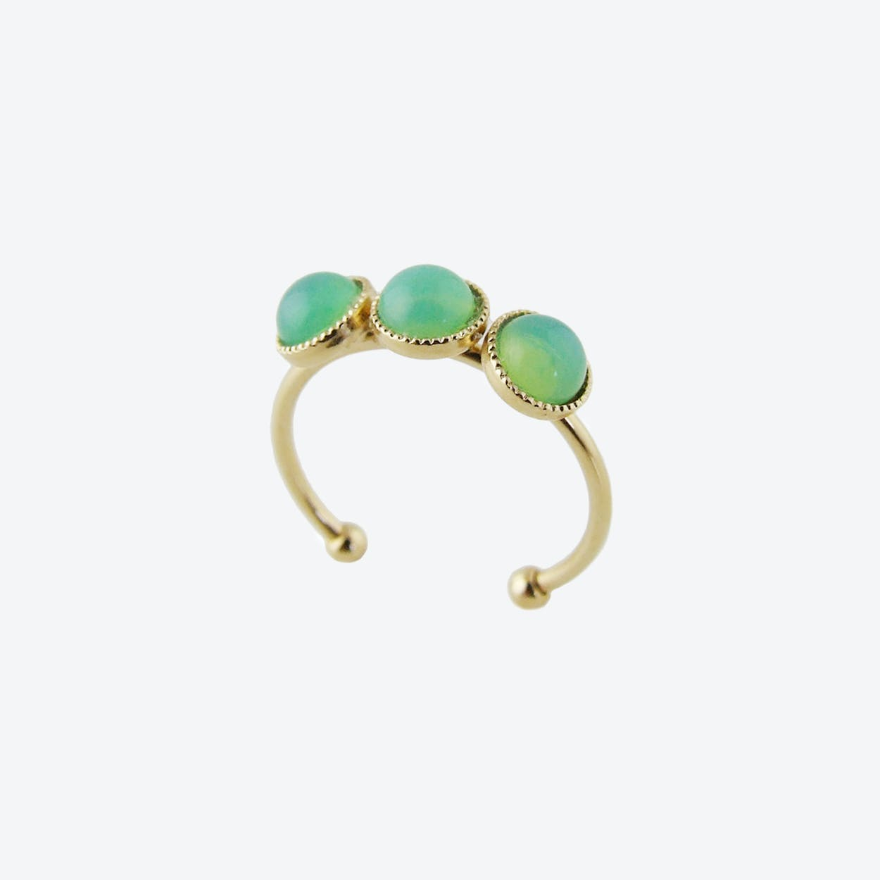 Gold Cabochons Ring in Mint