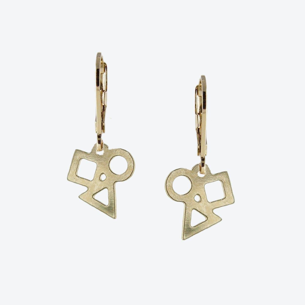 Tiny Geometric Earrings