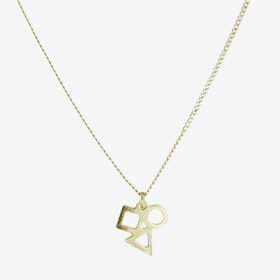 Tiny Geometric Pendant Necklace