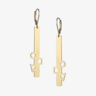 Geometric Gold Bar Earrings