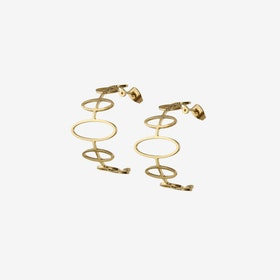 Gold Half Hoop Earrings