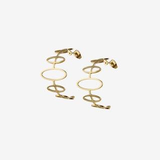Gold Half Hoop Earrings