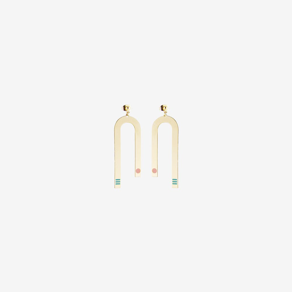 Miami Inspired Earrings in Turquoise and Blush