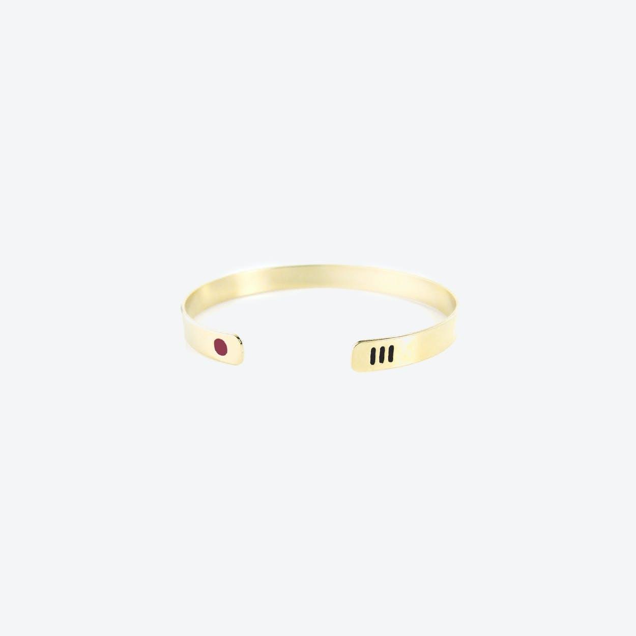 Miami Bracelet - Raspberry & Black