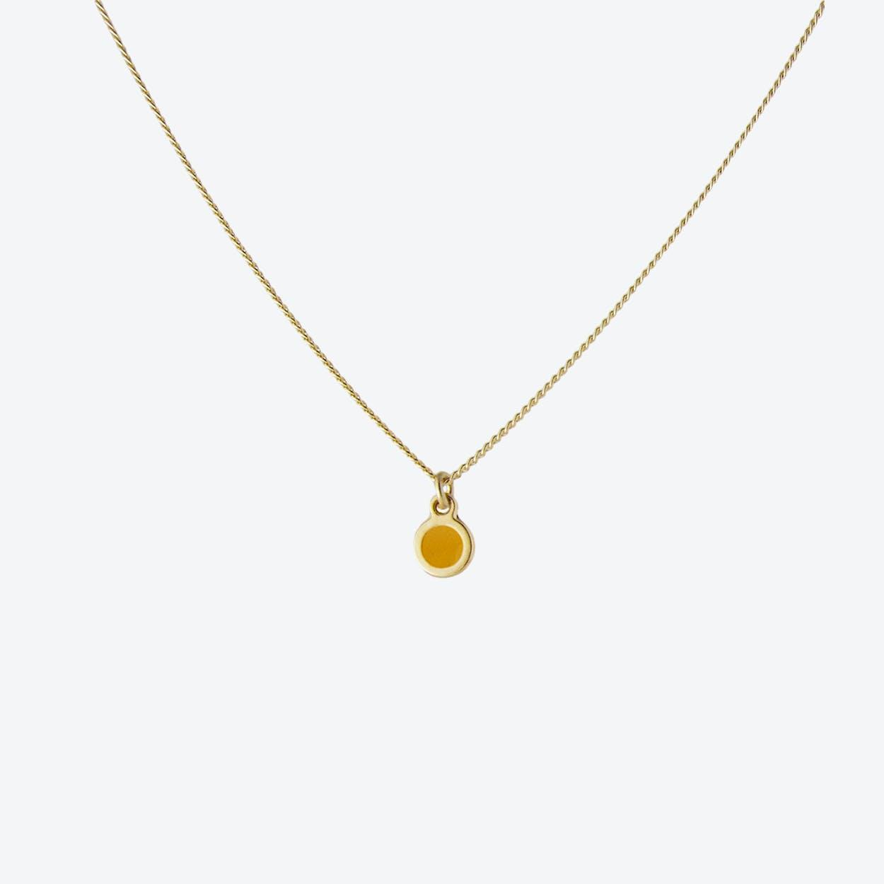 Minimal Dot Necklace - Saffron