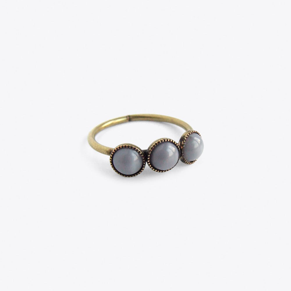 Three Cabs Ring in Grey