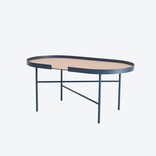 Oval Big Hug Coffee Table in Midnight Blue