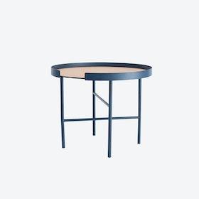 Round Big Hug Coffee Table in Midnight Blue