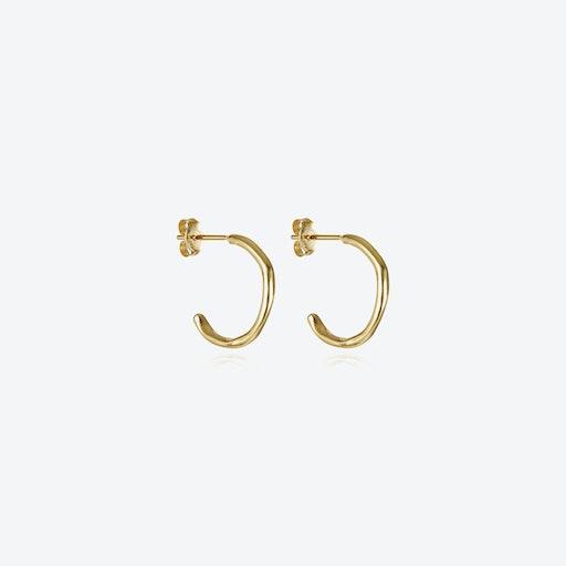 Circle Of Life Hoops - Gold