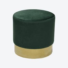 Bling Green Pouf - Ø 50 cm