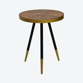 Walnut Facett Side Table