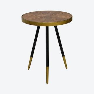 Walnut Facett Side Table
