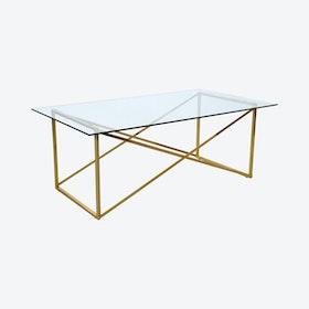 Brass Cross Coffee Table