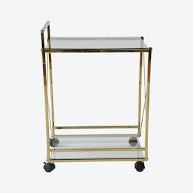 Brass Cross Service Cart