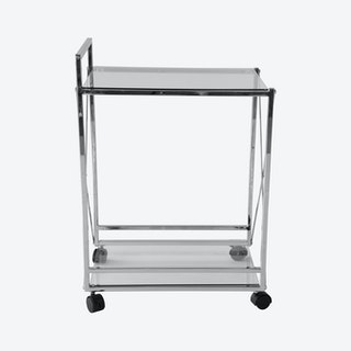 Chrome Cross Service Cart