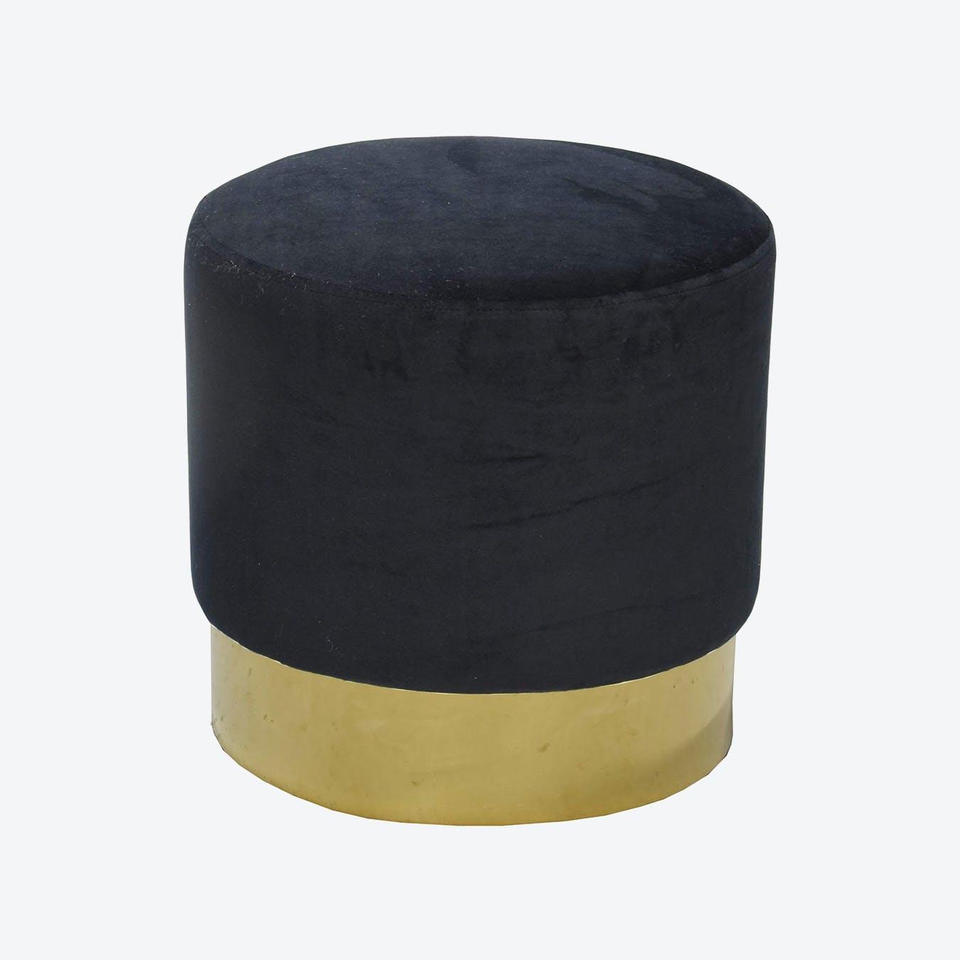 Bling Dark Black Pouf - Ø 50 cm