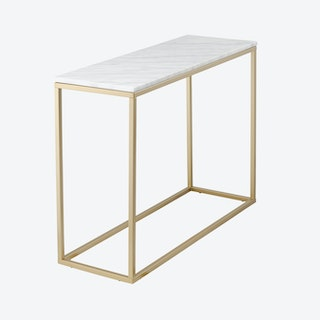 Marble Console Table - White/Gold