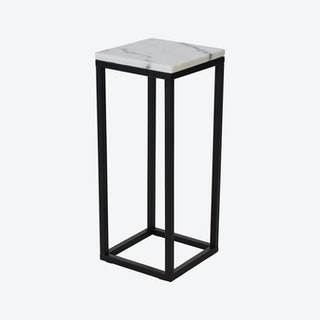 Marble Accent Table - White/Black