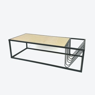 Valla Coffee Table w/ Integral Magazine Rack