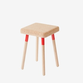 MARCO Stool - Cork/Red