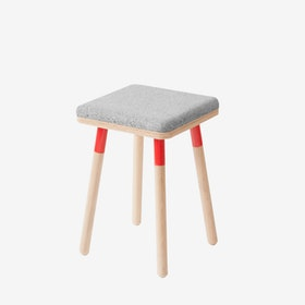 MARCO Stool - Grey/Red