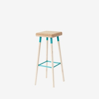 MARCO Bar Stool - Cork/Turquoise