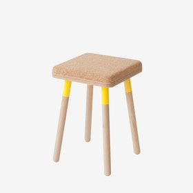 MARCO Stool - Cork/Yellow