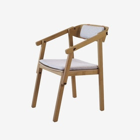 ATELIER Arm Chair - Oak Oiled w/ Wool Upholstery