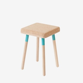 MARCO Stool - Cork/Turquoise