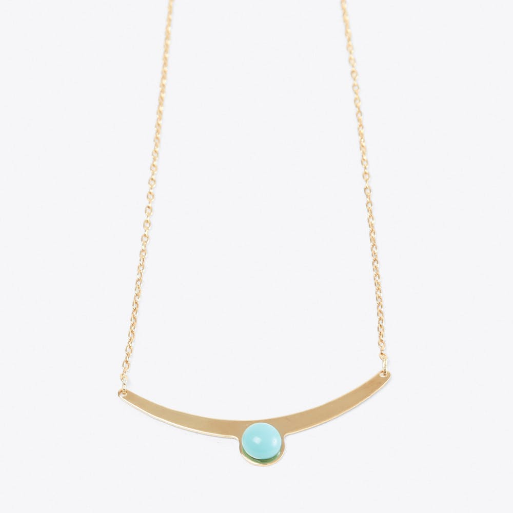Arch Crystal Necklace in Turquoise