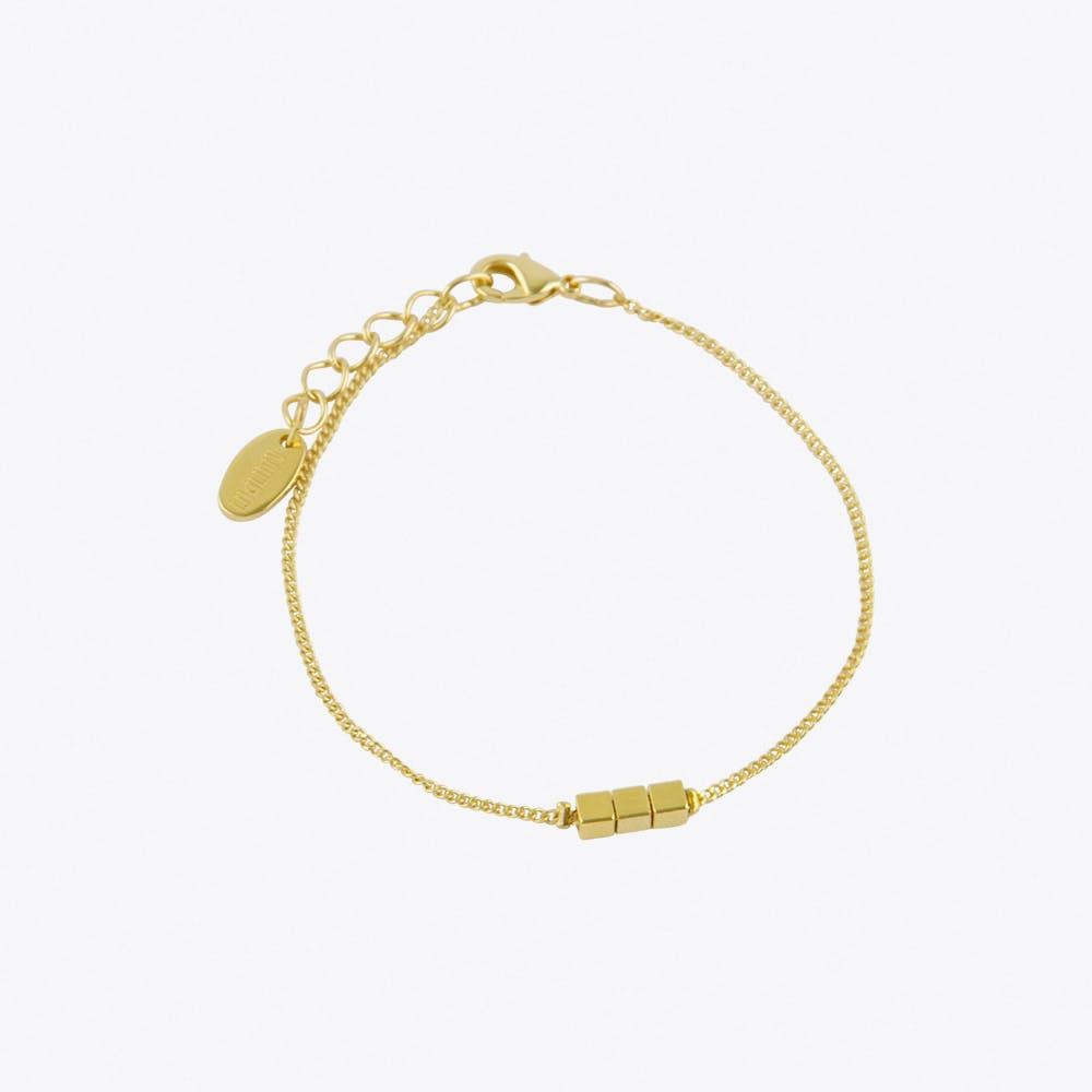 Cubes Bracelet in Gold