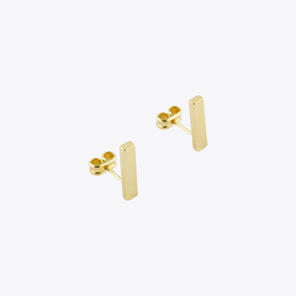 Rectangle Earrings in Gold