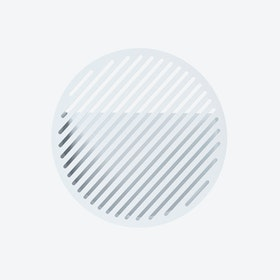 Diagonal Wall Basket - White