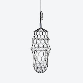 Grand LUCILLE Hanging Planter in Black