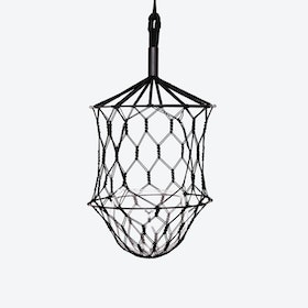 Bold LUCILLE Hanging Planter in Black