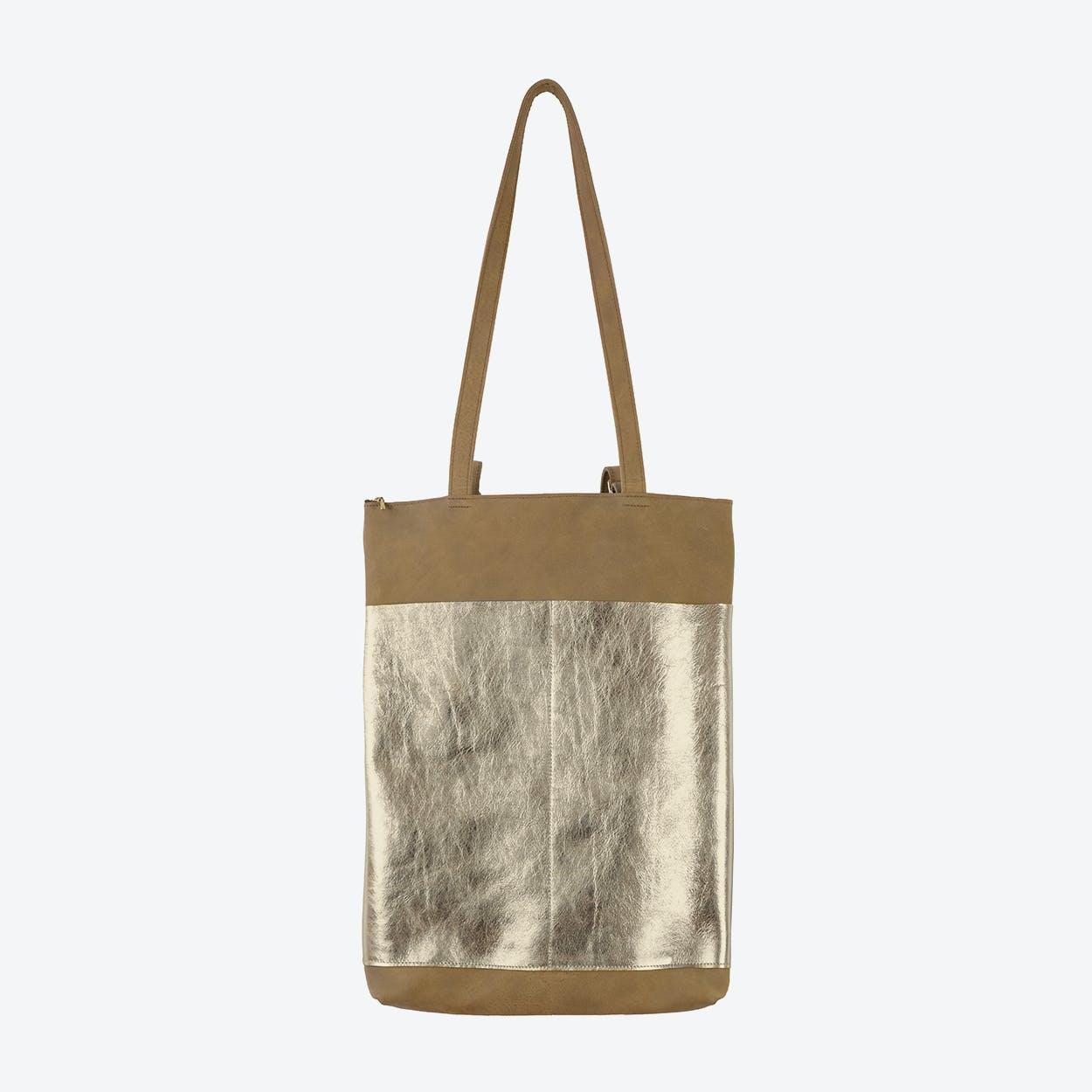 BJARNE Backpack in Brown / Gold