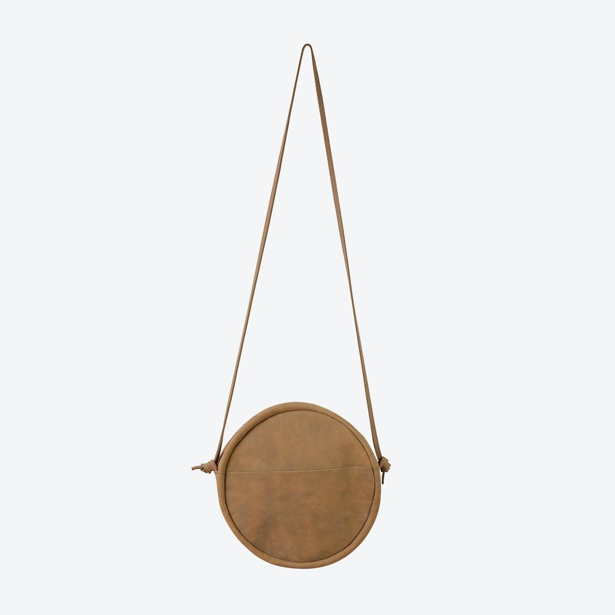 RUT Round Shoulder Bag in Brown