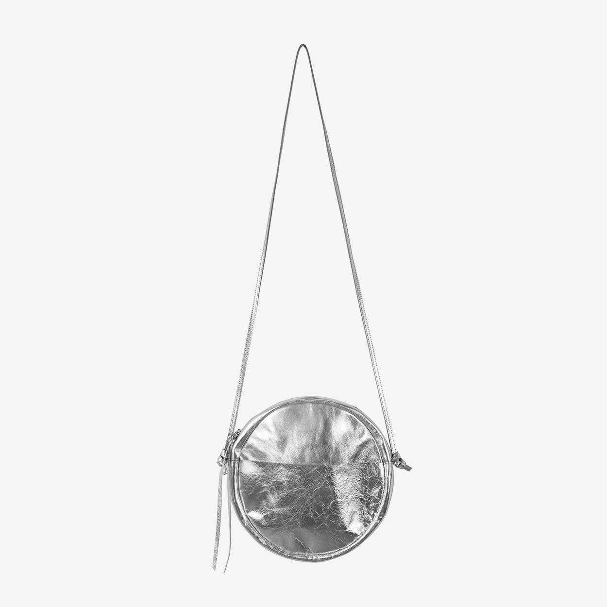 RUT Round Shoulder Bag in Silver