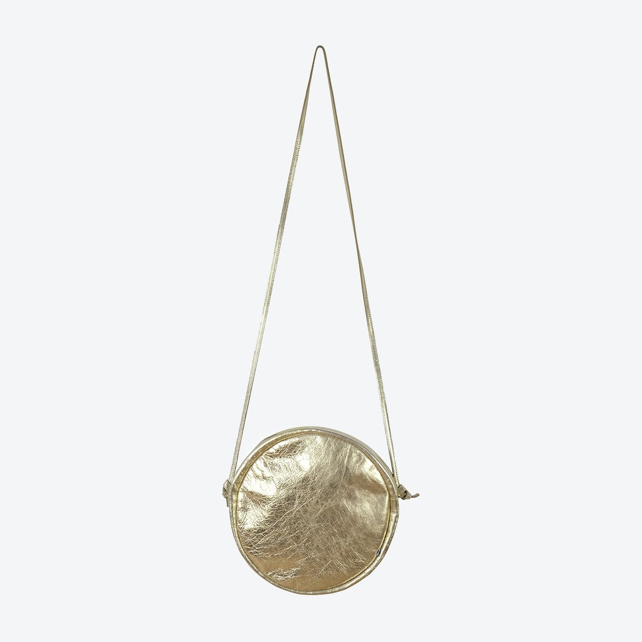 RUT Round Shoulder Bag in Gold