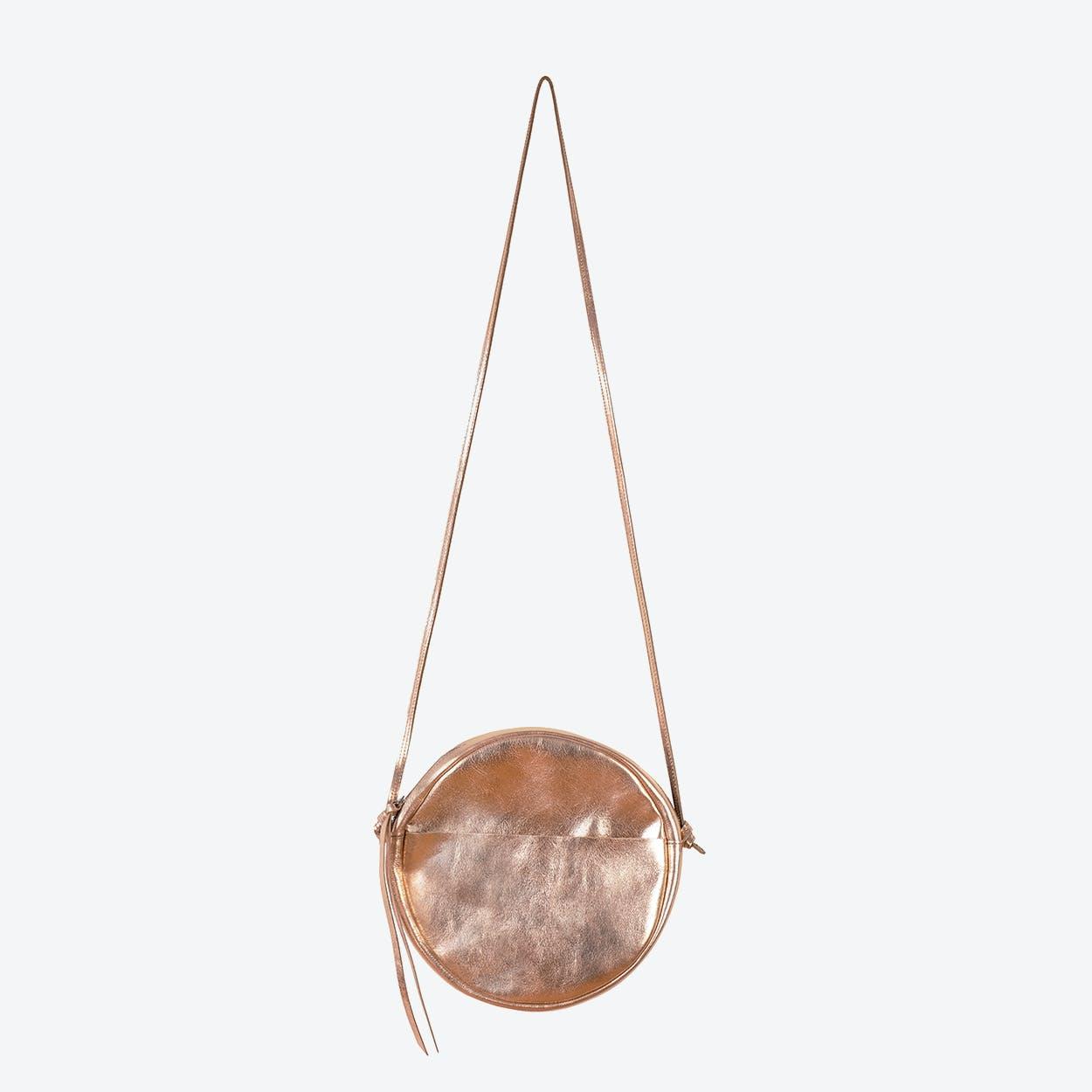 RUT Round Shoulder Bag in Copper