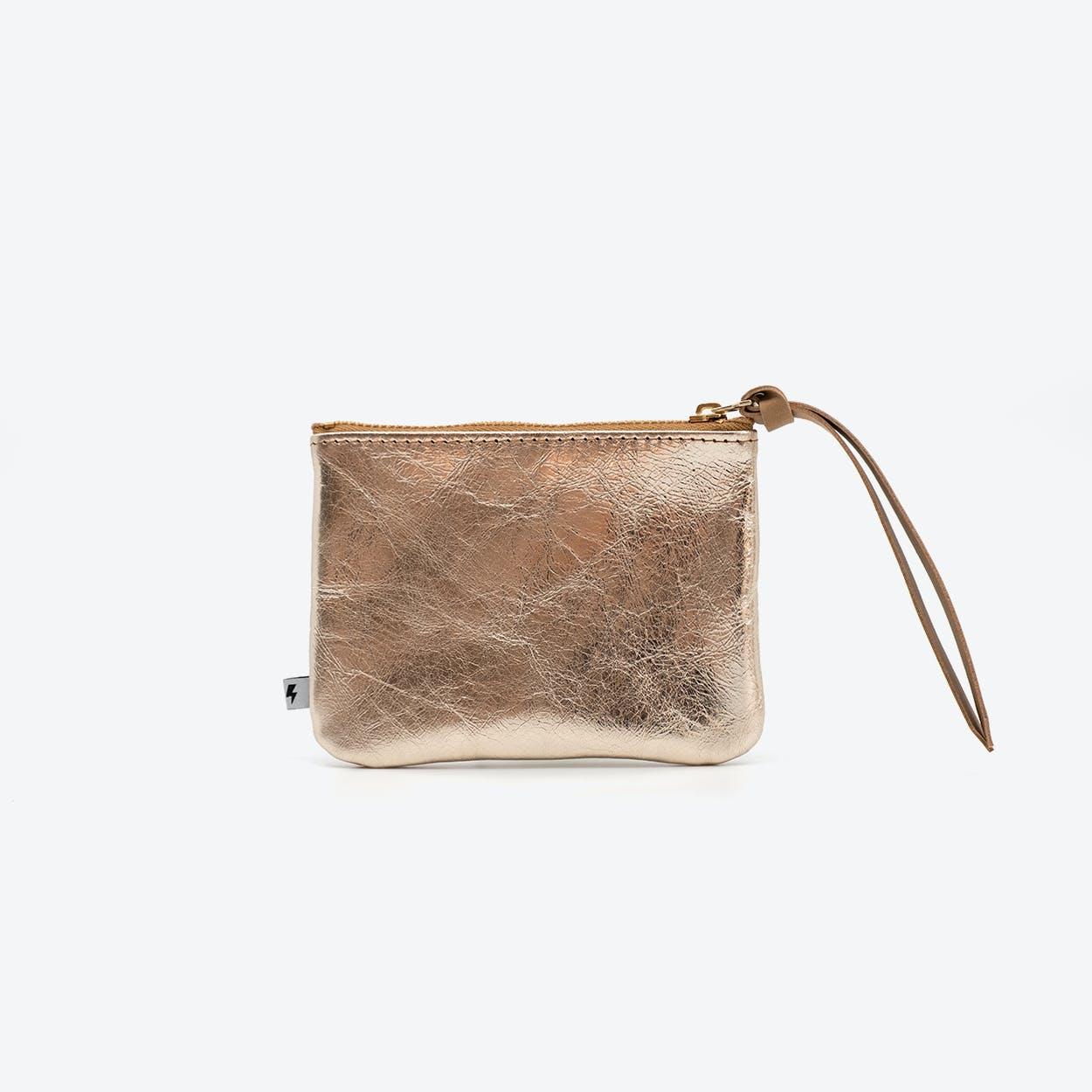 MAX Small Clutch in Brown / Copper