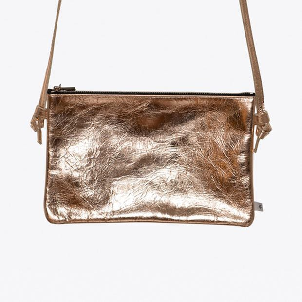Leather Handbag in Copper