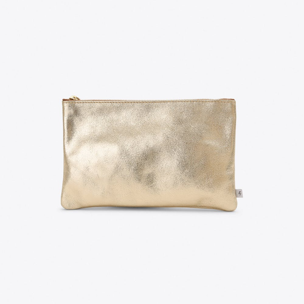 Small Leather Pocket in Gold