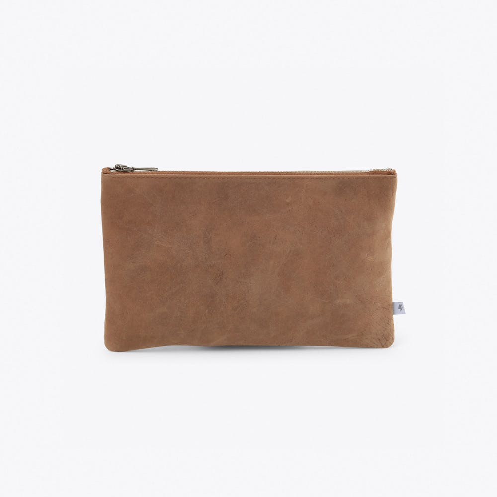 Small Leather Pocket in Brown