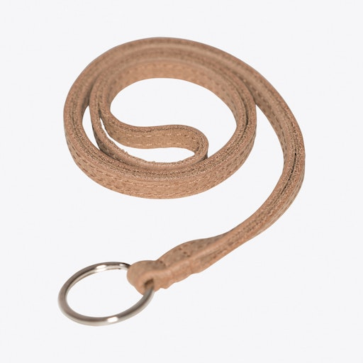 Leather Keychain in Brown