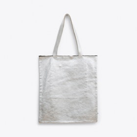 Leather Bag in Silver