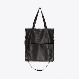 Leather Bag in Black/Black