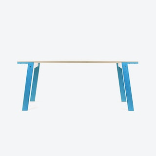FLAT Table in Iris Blue