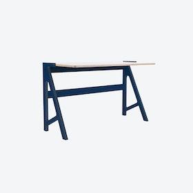 VOLT Desk in Night Blue w/ Snow White Top
